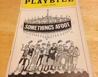 Something's Afoot Playbill