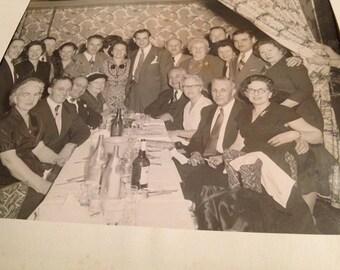 Masonic / Eastern Star Party Black & White Photo - 1960's