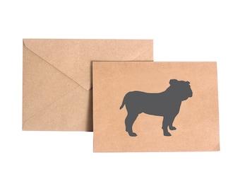 English Bulldog Stationery Note Card Set