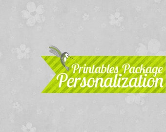 Personalize ANY Party Printables Package Blank Digital Download Files