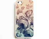 Rubber iPhone 5 Case. iPhone 5S Case. Rubber Phone Case. Vintage Ombre Floral. iPhone 5C Case. Case for iPhone 5.