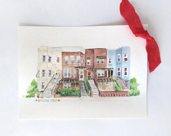Custom House Portrait Painting Illustration - Watercolor House Illustration - Home Portrait