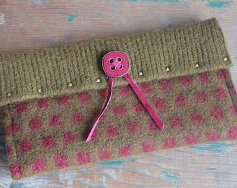 Felted Wool Clutch Purse, wool purse, wool clutch