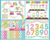 Clipart Bundle - Candy Land / Sweets - Digital Clip Art (Instant Download)