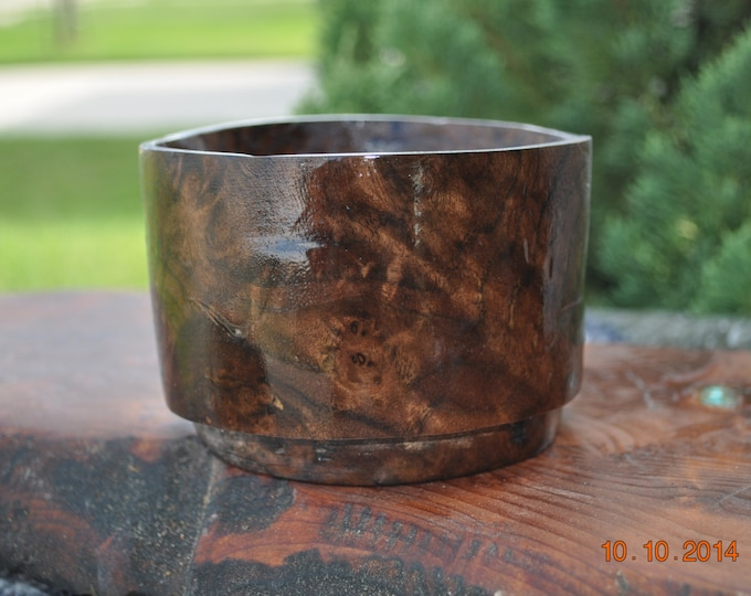 "Claro Walnut Bowel 2.5"" deep 3.5 wide Approx"