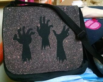 Zombie Hands Canvas Messenger Bag