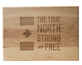 The Canadian Personalized Cutting Board 10x14 Maple Custom Laser Engraved