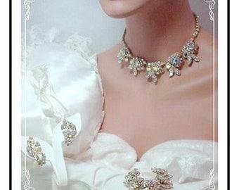Juliana Rhinestone Parure -   Vintage D&E  Juliana  Ravishing Soft Aurora Borealis  Para-615a-020608104