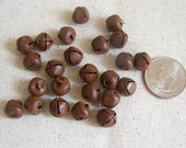 Primitive 10mm Rusty Jingle Bells 24 Count