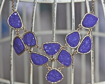 Statement Bib Necklace Druzy