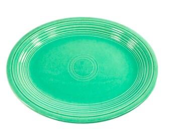 Original Vintage Green Fiesta Oval Platter - Homer Laughlin Co.