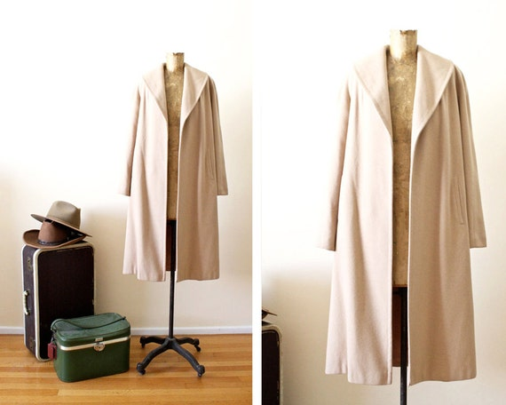 1960s cashmere coat / swing coat / winter jacket / vintage 1960s coat / s-l