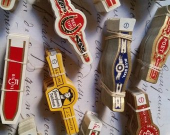 50 Assorted Antique Cigar Labels Lot for Collage, Altered Art, Mixed Media, etc...
