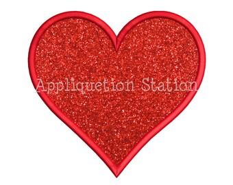 Heart Basic Shape Applique Machine Embroidery Design Valentine INSTANT DOWNLOAD