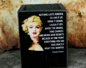 Marilyn Monroe Box / Handmade Wooden Box /  Pencil Box / Glamour Box / Old Hollywood Glamour / Makes A Great Gift !