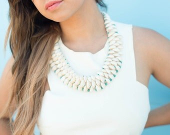 Bohemian Cowrie shell necklace