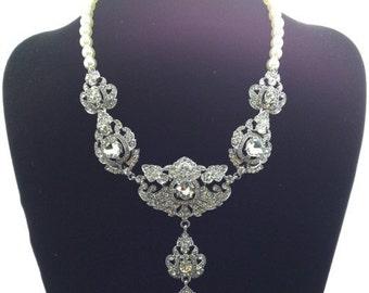 Royal Dramatic Austrian Crystal Necklace