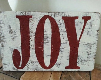 Barn Wood Christmas Sign, Joy, Reclaimed wood, Barn Wood, Rustic Christmas, Merry Christmas, Joy To The World, Hand Painted, Custom Sign