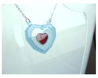 Legend of Zelda Inspired Ocarina of Time Heart Piece Necklace