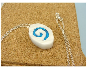 Warcraft Inspired Hearthstone Necklace - World of Warcraft Inspired