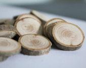 Wooden table confetti x25 discs