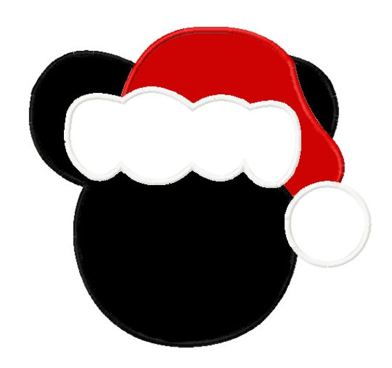 Items similar to boy mouse silhouette with santa hat diy