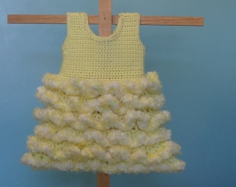 Newborn Ruffle Yellow Dress Pattern  Newborn to 3T Easy