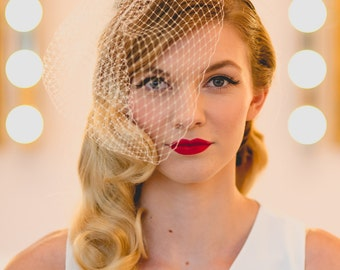 Full Face Birdcage veil