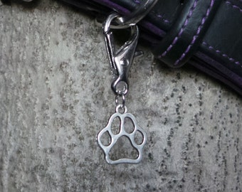 Paw Print Dog Collar Charms