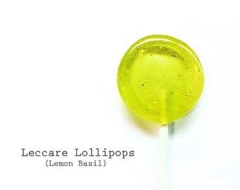 6 Lemon Basil Lollipops // Bright Yellow // Fresh ground Basil // Fall Wedding Favors