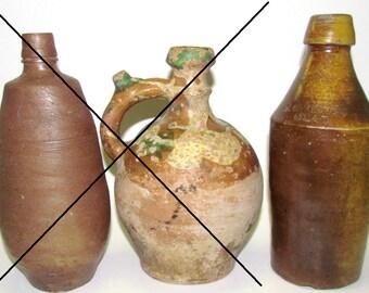 SALE!! Antique Stoneware Bottle, F McKinney, Mead (Ale/Beer) Bottle, Mid 1800's Bottle, North American Crockery, Sale is for Bottle on RIGHT