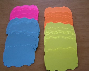 Neon Labels Paper Punchies