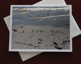 I Love You Card / Anniversary Card / Just Because Card / Sand Art / Free US Shipping / Romance / Fpoe