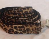Dog Leash - leopard Print
