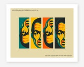1984, DOUBLETHINK, Orwell inspired wall art for your Home Decor, Fine Art Print