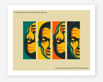 DOUBLETHINK, Pop-Propaganda, Wall Art for your Home Decor, Giclée Fine Art Print