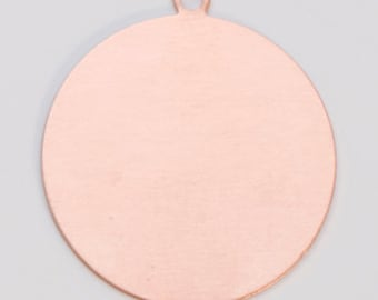 """Copper Blanks Circle with Ring 1"""" 24ga Pkg Of 6"""
