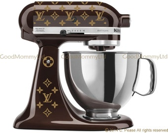 Louis Vuitton Inspired Mixer Decal Kit and Decorative LV Sheets - Vinyl Stickers for Your Kitchenaid Stand Mixer and MORE!
