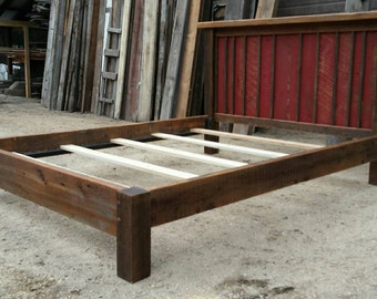 Reclaimed Rustic Platform Bed