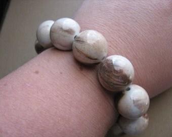 BRACELET SALE- Brown, Tan Beaded Chunky Bracelet