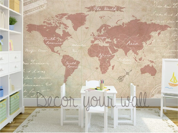 Self adhesive wallpaper removable wallpaper by decoryourwall for Papel pared autoadhesivo