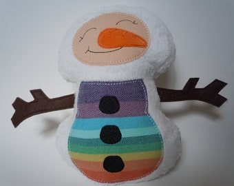 Wrap Scrap Snowman Plush Doll
