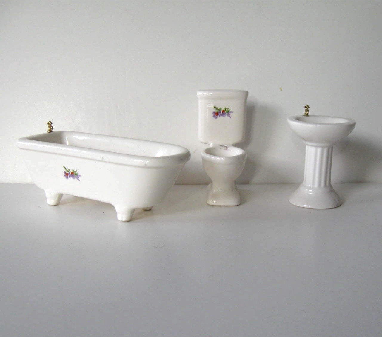 Set vintage di sanitari casa di bambola bagno di jewelryandthings2 - Set sanitari bagno ...