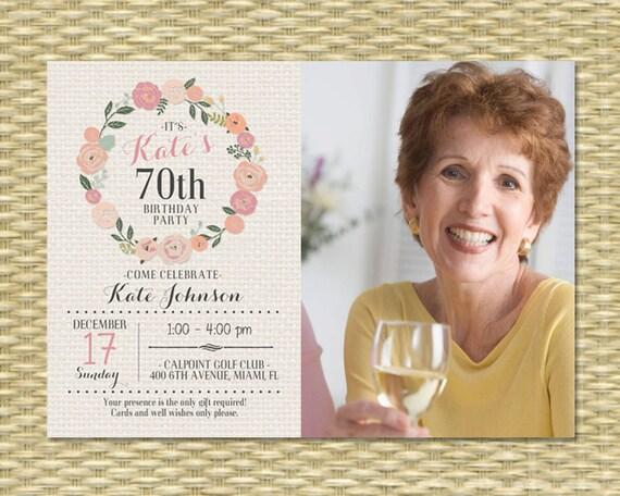 70th birthday invitation adult birthday invite milestone birthday il570xn filmwisefo