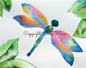 Digital art, digital download, dragonfly, dragonflies, watercolor dragonfly,