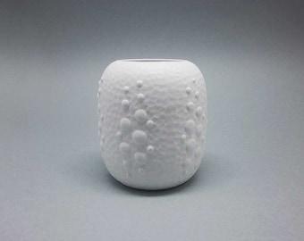 White Op Art vase by Royal Bavaria KPM (Kerafina)
