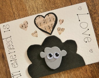 Sheep card. All Ewe Need is Love