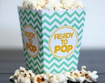 Choose Your Color - Ready to Pop Baby Shower Ready to Pop Mini Chevron Popcorn Box Party Favor Printable  - DIY Party Ready to Pop Corn Box