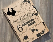 Sketch-pad Alice in Wonderland quote /blanco and /recycled paper