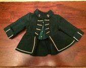 American Girl Felicity's Green Wool Riding Habit Jacket